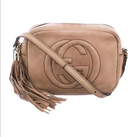 Gucci Handbags - Gucci Disco Nubuck Crossbody